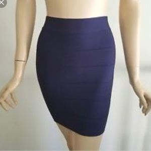 Navy blue XS bandage skirt from Bebe